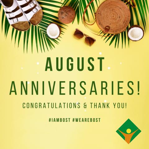 August Anniversaries!