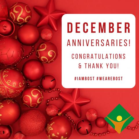 December Anniversaries!